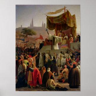 St. Bernard Preaching the Second Crusade Poster