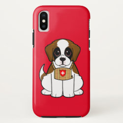 Case-Mate Barely There Apple iPhone XS Case with Saint Bernard Phone Cases design