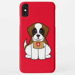 Case-Mate Barely There Apple iPhone XS Max Case with Saint Bernard Phone Cases design