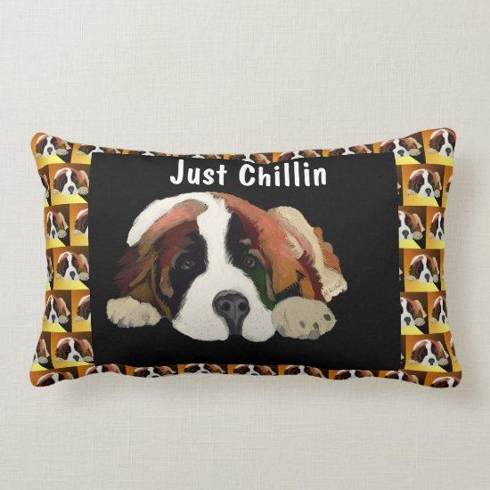 St. Bernard Puppy Lumbar Pillow