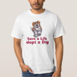 St Bernard Save a Life Adopt T-shirt