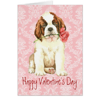 St Bernard subió tarjeta del día de San Valentín