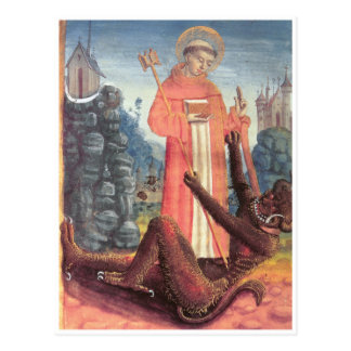 St Bernard supera al diablo Postales