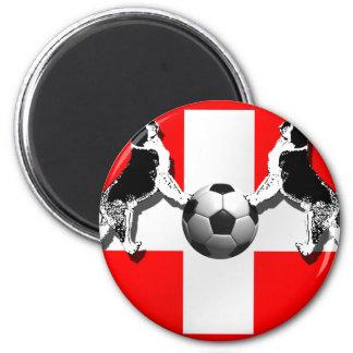 St Bernard Swiss Soccer flag of Switzerland gifts Refrigerator Magnet