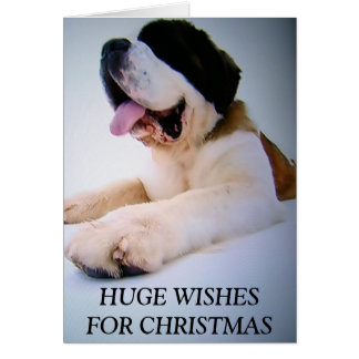 ST. BERNARD TO THE RESCUE=CHRISTMAS WISHES GREETING CARDS