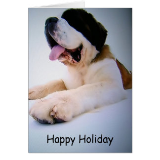 ST. BERNARD TO THE RESCUE=CHRISTMAS WISHES CARD