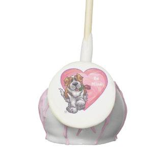 St. Bernard Valentine's Day Cake Pops