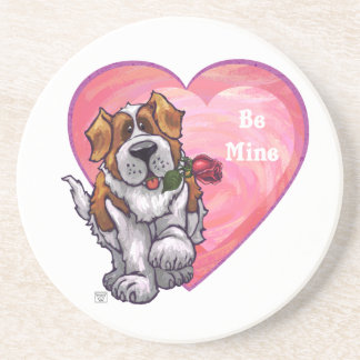 St. Bernard Valentine's Day Coaster