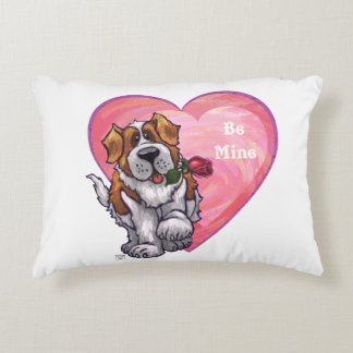 St. Bernard Valentine's Day Decorative Pillow