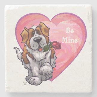 St. Bernard Valentine's Day Stone Coaster