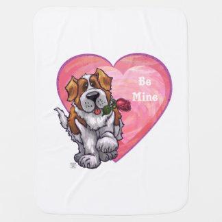 St. Bernard Valentine's Day Swaddle Blanket