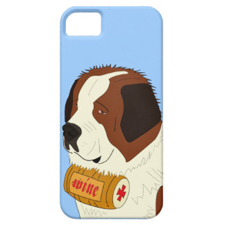 St. Bernard with a Small Wine Barrel - Line Art iPhone 5 Cover
