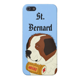 St. Bernard with a Small Wine Barrel - Line Art iPhone SE/5/5s Cover