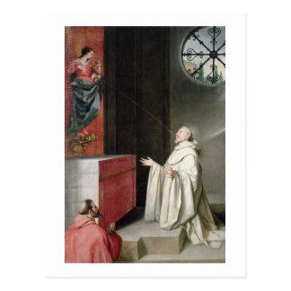 St Bernard y la Virgen Postales