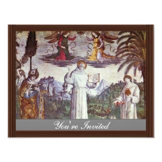 St. Bernardine And Two Saints Detail By Pinturicch Personalized Announcement