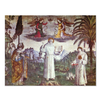 St. Bernardine And Two Saints Detail By Pinturicch Invitation