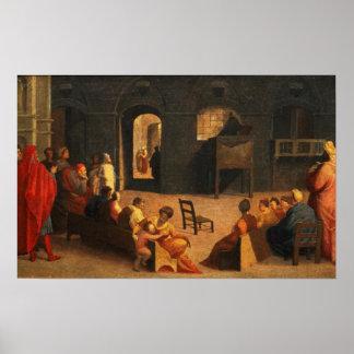 St Bernardino de la predicación de Siena Impresiones