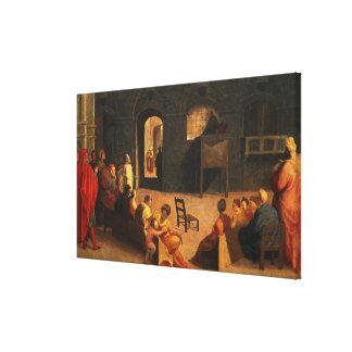 St Bernardino of Siena Preaching Canvas Print