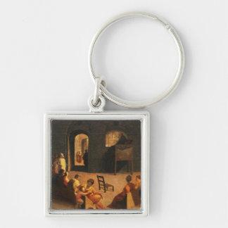 St Bernardino of Siena Preaching Keychain