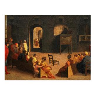 St Bernardino of Siena Preaching Postcard