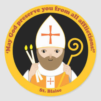 St. Blaise Classic Round Sticker