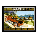 St. Blaise de los automóviles de Martini Tarjeta Postal
