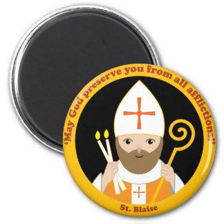 St. Blaise 2 Inch Round Magnet