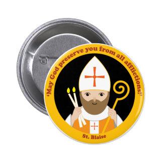 St. Blaise Pin Redondo De 2 Pulgadas