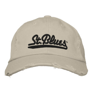 St Blues embroidered distressed cap