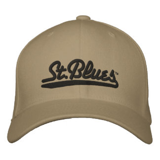 St Blues embroidered wool cap