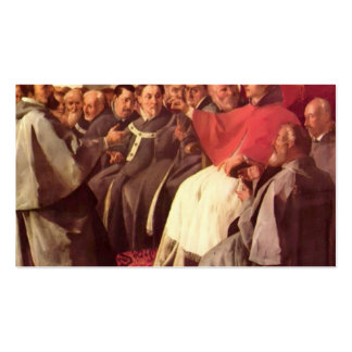 St. Bonaventure at Council by Francisco Zurbaran Business Card Templates
