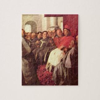 St Bonaventure at Council by Francisco Zurbaran Puzzle