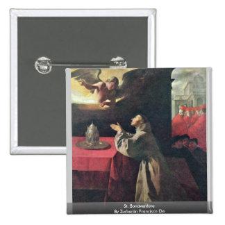 St. Bonaventure By Zurbarán Francisco De Pinback Button