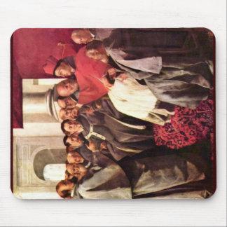 St Bonaventure recibe a los enviados del emperador Alfombrilla De Ratones