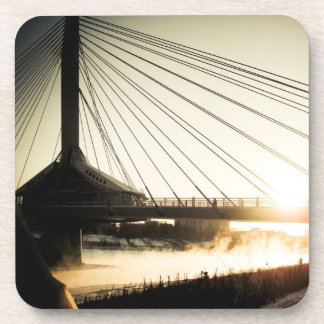 St. Boniface Bridge at Sunrise 01 Cork Coaster