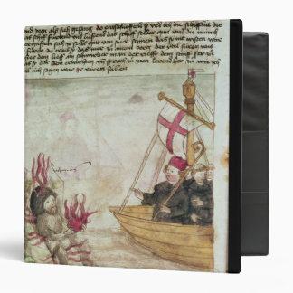 "St. Brendan en su nave Carpeta 1 1/2"""