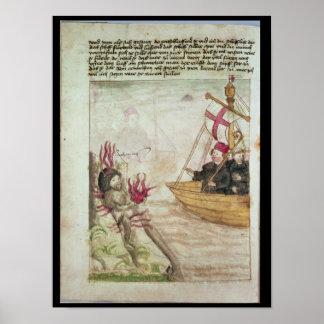 St. Brendan en su nave Póster