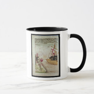 St. Brendan in his ship Mug