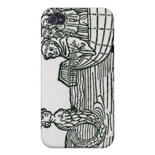 St. Brendan y la sirena iPhone 4/4S Fundas