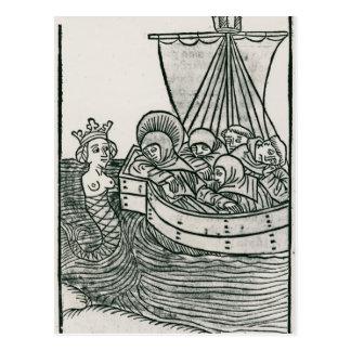 St. Brendan y la sirena Postal