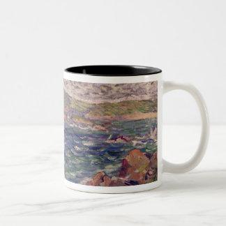 St. Briac, 1885 (oil on canvas) Two-Tone Coffee Mug