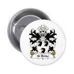 St Bride Family Crest Pins