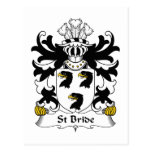 St Bride Family Crest Post Cards