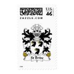 St Bride Family Crest Stamp