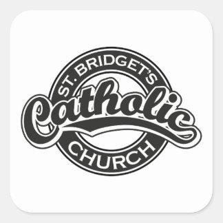St. Bridget's Catholic Church Black and White Square Sticker