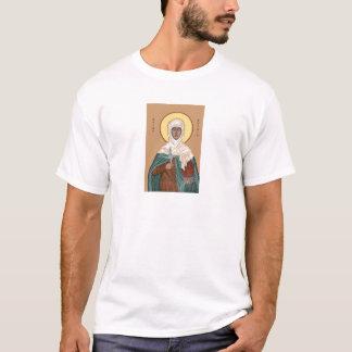 St Brigid con el fuego y la cruz santos Playera