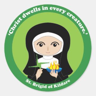 St. Brigid de Kildare Pegatina Redonda