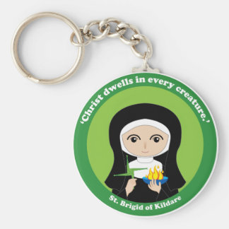 St. Brigid of Kildare Basic Round Button Keychain