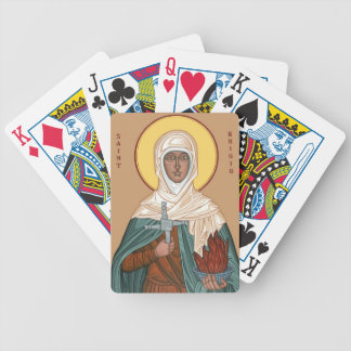 St Brigid with Holy Fire and Cross Bicycle Playing Cards