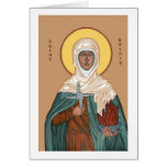 St Brigid with Holy Fire and Cross Card